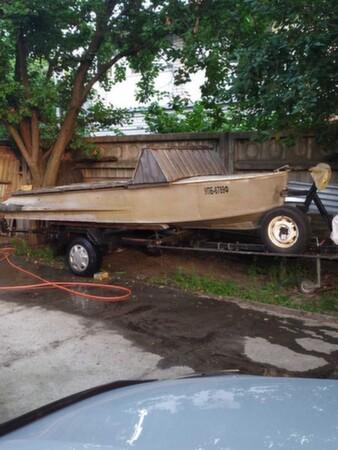 Лодка Южанка на лафете - Киев, Киевская область
